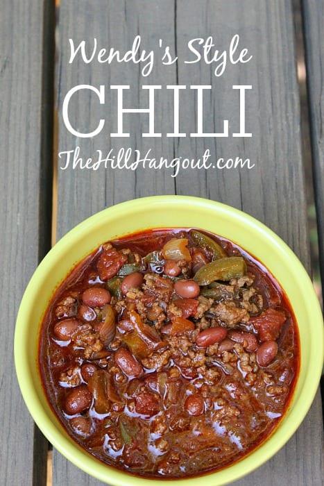 Wendys Style Chili