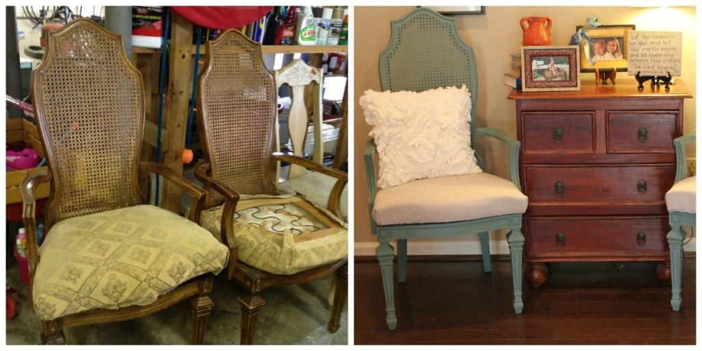 Green Caneback Chairs